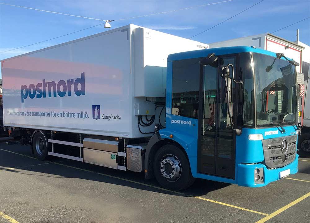 lastbil för kyl och frystransporter